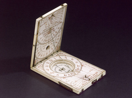 Ivory tablet compass sundial, 1574.