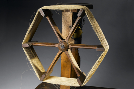 Arkwright's wrap-reel winding wheel, 1769-1775.