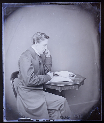 Portrait of Lewis Carroll.