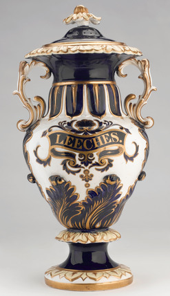 Pharmacy leech jar, c 1831-1859.