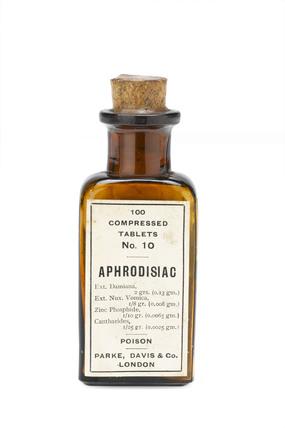 Bottle of 'Aphrodisiac' tablets.