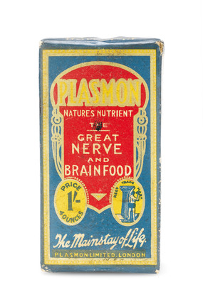 Plasmon 'nerve and brain food', 1900-1950.