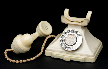 Ivory 200 series dial telephone, c 1935.