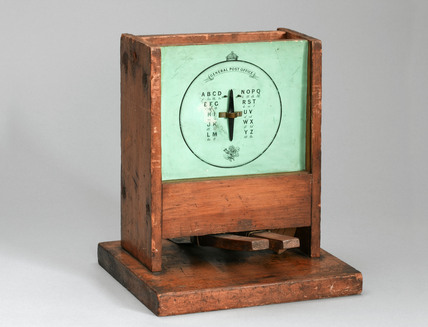 Double-sided telegraph used for training operators, 1870-1930.