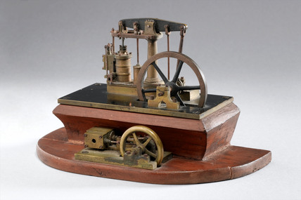 Model beam engine, 19th century.