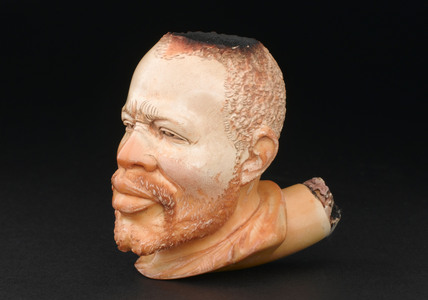 Pipe bowl in the shape of a head, European, 1860-1900.