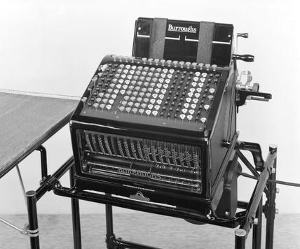 Burrough's adding and listing machine, 1926.