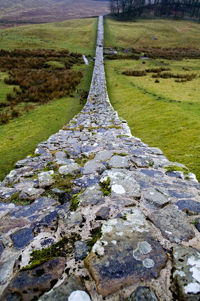 Hadrian's Wall at Housesteads Fort, Northumberland, January 2006.