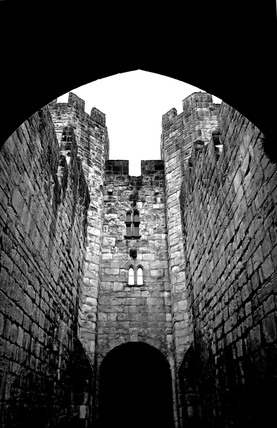 Alnwick Castle keep, Northumberland, January, 2006.