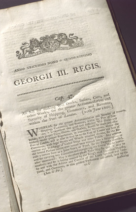 Parliamentary act, 1800.