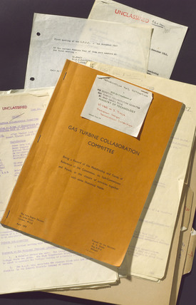 Documentary material relating to gas turbine engine development, 1941-1950.