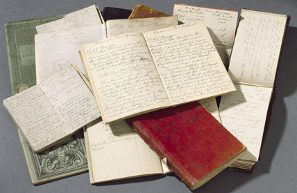 Notebooks of Alexander Parkes, c 1860s-1870s.