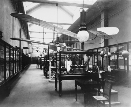 aeronautical exhibition, Science Museum, London, 1912.