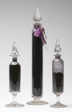 Bottles containing containing mauveine salts, c 1863-1864.