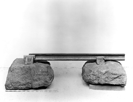 Stone sleepers, chairs, spike and rail, 1834.