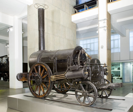 Stephenson's 'Rocket' (1829) on display at the Science Museum, 2006.