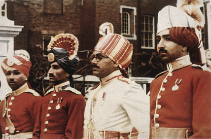 Indian army officers at Hampton Court.