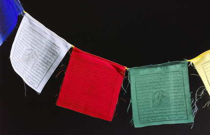 Buddhist prayer flags, 2005.