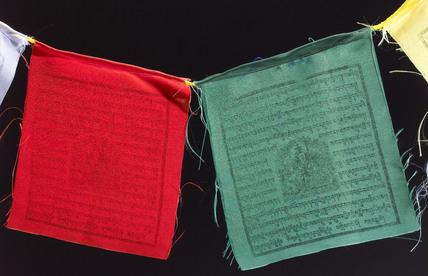 Buddhist prayer flags, 2005.