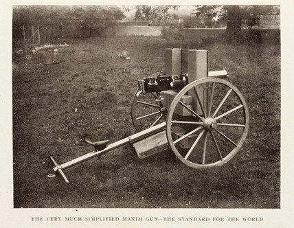 The Simplified Maxim gun.
