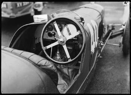 Cockpit of a Maserati racing car, Berlin, 1932.