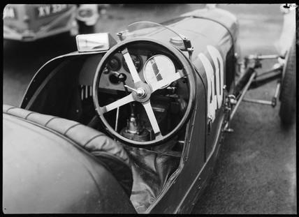 Cockpit of a Maserati racing car, Berlin, 1932.