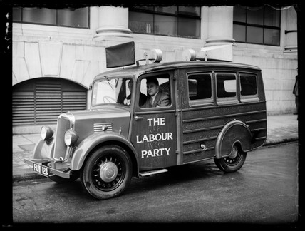 New Labour loudspeaker van for rural areas, 1939.