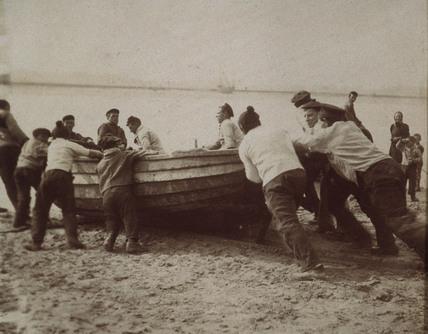 Harbour scene, c 1900-1905.
