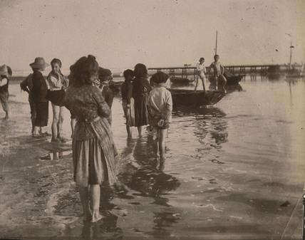Beach scene, c 1900-1905.