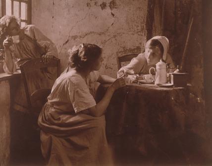 Women drinking coffee, c 1900-1905.
