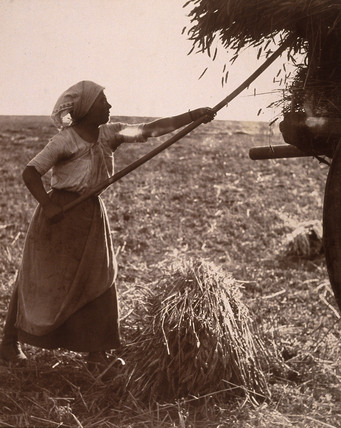 Landworker, Britanny, France, c 1900.