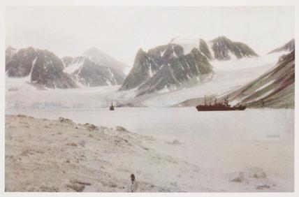 Whalers in Magdalene Bay, Spitsbergen c 1930.