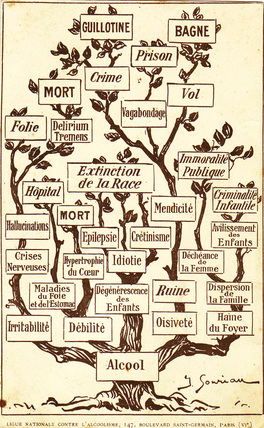 Alcohol tree, c 1900.