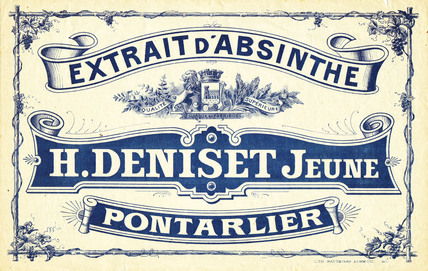 Deniset crate label, c 1910.