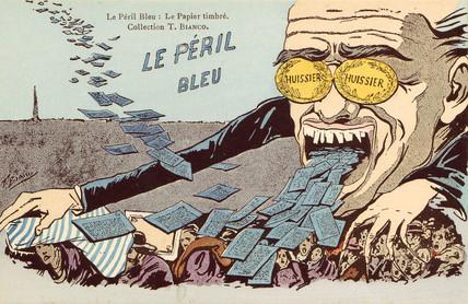 'Le Peril Bleu - Le Papier Timbre', c 1910.