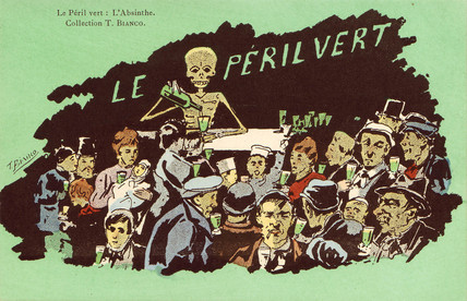 Anti-absinthe postcard