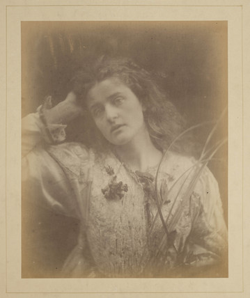 Emily Peacock as 'Ophelia', 1874.