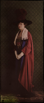 Portrait of a woman in ceremonial robes, c 1912.