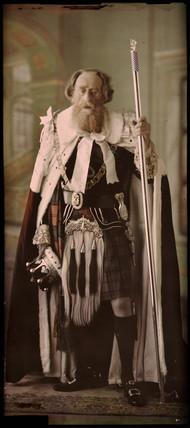 Portrait of a bearded man in ceremonial dress, c 1912.