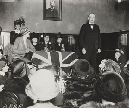 Winston Churchill makes a speech, Wanstead, 10 October 1924.