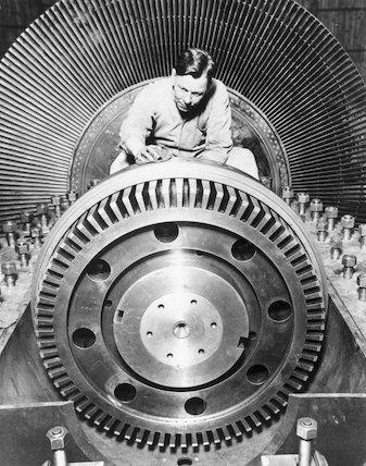 Turbine, Battersea Power Station, 31 January 1935.