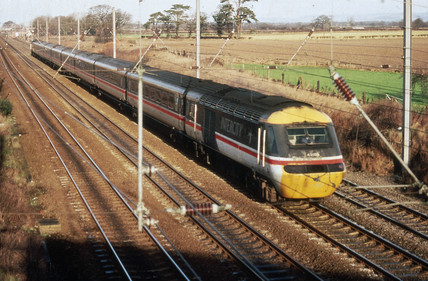 Intercity 125 High Speed Train at Tollerton, North Yorkshire, c 1980s.
