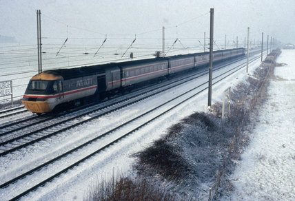 Intercity 125 High Speed Train at Overton, c 1980s.