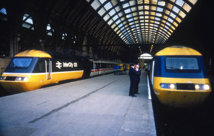 InterCity High Speed Train, King's Cross Station, London, c 1980s.