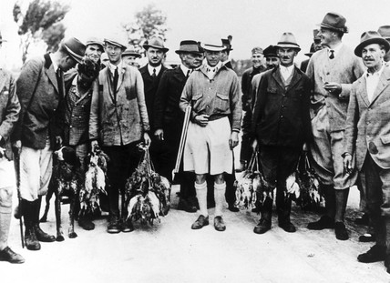 King Edward VIII and shooting party, 1936.