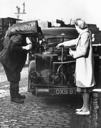Coal-driven car, 25 November 1939.