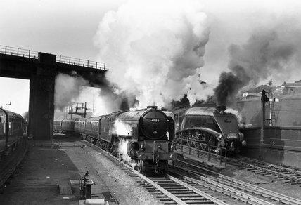 'Aberdonian', steam locomotive, King's Cross Station, London, 1958.