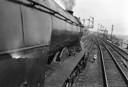 'Colombo' steam locomotive on the East Coast Main Line, c 1954.