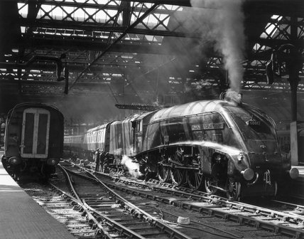 'Commonwealth of Australia' steam locomotive, Newcastle, mid-1950s.