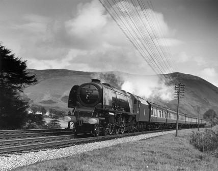 Coronation Class steam locomotive, Scotland, c 1950s.